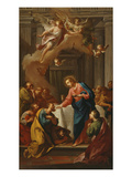 Apostles' Communion, 17th Century, Italy Giclée-tryk af Italian School