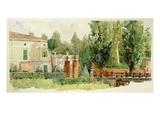 Villa Verdi, S. Agata, Villanova Sull'Adda Giclée-Druck von Leopoldo Metlicovitz