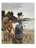 Elegant Ladies on the Beach, Undated, Detail Giclee Print by Jules-Charles Aviat