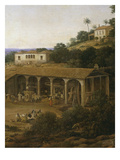 View of Engenho Real, also known as a View of Sugar Mill, Detail Giclee Print by Frans Post