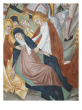Mary, at the Foot of the Cross, Supported by John and the Holy Women, the Crucifixion Giclee Print by Giovanni Canavesio