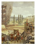 Roman Soldiers Working a Catapult, from Siege of Alesia, 52 BC Giclee Print by Henri-Paul Motte