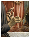Christ&#39;s Hand Blessing, Judas&#39; Hand Holding Bread, from the Last Supper, Fresco C.1444-50 (Detail) Giclee Print by Andrea Del Castagno