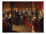 Baron Bettino Ricasoli Presenting Tuscan Plebiscite to Victor Emmanuel II, 1820-78 King of Italy Giclee Print by S Capisanti