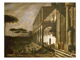 Festival at Villa De Poggiorea, Naples, Italy Giclee Print by Viviano Codazzi