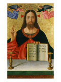 Christ Blessing the World (Inv 19) with Ins Ego Sum Lux Mundi Via Veritas Principium Et Finis Giclee Print by Melozzo da Forl&#237; 