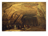Cave Hewn from Rock and Used as Salt Warehouse, Dieppedale, Near Rouen, France Giclee Print by Jean-Pierre-Laurent Houel