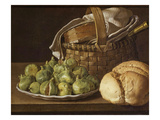 Still Life with Figs, C. 1760-70 Giclee Print by Luis Menendez Or Melendez