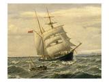 Ship, 1883 Giclee Print by Oscar Kleineh