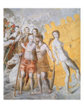 Neptune with Adam and Eve Reproduction procédé giclée par Fontainebleau School