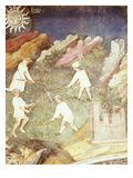 Haymaking, July, Cycle of Months, Fresco, 15th Century, Buonconsiglio Castle Giclee Print by  Venceslao