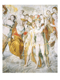 Psyche, Janus Holding the Keys to Rome, Minerva, Juno. Giclee Print by Fontainebleau School 