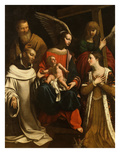 Holy Family with Saints Elizabeth and Bruno, Called the Purification Giclee Print by Guy François