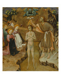 Baptism of Christ, Predella of Retable from Vic Cathedral, 1427-37 Giclee Print by Bernardo Martorell