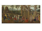 The Adoration of the Magi, the Nativity and the Annunciation to the Shepherds Giclee Print by  Florentine School