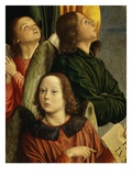 Angels, from Bourbon Altarpiece, Late 15th Century (Detail) Giclee Print by Jean Hey