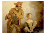 Le Duo, or the Duet, Detail Giclee Print by Nicolas Lancret
