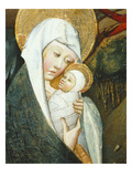 Mary and the Baby Jesus, the Flight into Egypt, Verdu Retable, 1430-61, Llieda School, Detail Giclee Print by Jaime Ferrer