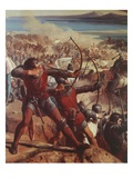 Archers, from Battle of Ascalon, 18 November 1177 (Detail) Giclee Print by Charles-Philippe Lariviere