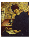 Zachary, Father of John the Baptist, Writes His Name, at His Birth, on a Parchment Giclee Print by Hispano-Flemish Workshop