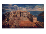 Place D'Armes, Palais Princier (Royal Palace), Monte Carlo, Monaco, in 1732 Giclee Print by Giuseppe Bressan