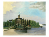Finnish House on Jatkassaari Island, Late 19th Century Giclee Print by Wilhelm Johansson