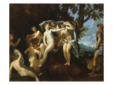 Actaeon Metamorphosing into a Stag, or Diana and Actaeon, C.1640 Giclee Print by Francesco Albani