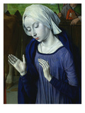 The Virgin Mary, from the Nativity, with Donor Cardinal Jean Rolin, C.1480 (Detail) Giclee Print by Jean Hey