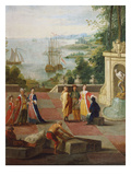 Merchants from the East Presented on the Terrace by the Sea, 18th Century Giclée-Druck von Claude Joseph Vernet