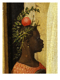 Young Black Page of King Gaspard with Apple on Head, from Adoration of the Magi, Tripytch Premium Giclee Print by Hieronymus Bosch