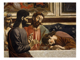 Saint Peter, Christ and Sleeping Saint John, with Judas Opposite, from the Last Supper Giclee Print by Andrea Del Castagno