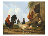 The Farmyard, 1860 Giclée-Druck von Albertus Verhosen