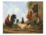 The Farmyard, 1860 Premium Giclee Print by Albertus Verhosen