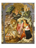 Preaching of John the Baptist, Predella of Retable from Vic Cathedral, 1427-37 Giclee Print by Bernardo Martorell