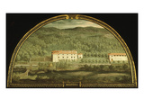 Villa Serraveza, Tuscany, Italy, from Series of Lunettes of Tuscan Villas, 1599-1602 Giclee Print by Giusto Utens