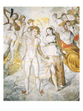 Mercury, the Messenger God, with Psyche and Janus Giclee Print by Fontainebleau School 