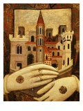 Perugia, Italy, in the Middle Ages (Detail) Giclee Print by  Meo da Siena