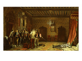 Assassination of Duc De Guise by Guards of Henry III, 1551-89 Giclee Print by Paul Delaroche