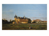 Château De Digoine, C.1770, by Bourguignon Architect Verniquet, and English Greenhouse, C.1830 Giclee Print by P D Francesco