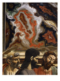 Saint Peter, Judas and Christ, with Wall Decoration Above, from the Last Supper Giclee Print by Andrea Del Castagno
