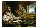 Saint Albert Writing, from Apparition of Saint Paul to Saint Albert the Great Giclee Print by Alonso Antonio Villamor