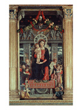 Madonna and Child with Angels, Central Panel of 1459 Altarpiece of Saint Zeno Giclee Print by Andrea Mantegna