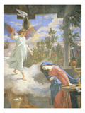 Annunciation, Fresco, 1875 Giclee Print by Cesare Mariani