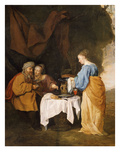 Lot's Drunkenness,Daughters Making Him Drunk in Order to Sleep with Him Giclee Print by Gabriel Metsu