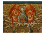 God in Heaven Surrounded by Angels, Nativity, Verdu Retable, 1430-61, Llieda School, Detail Giclee Print by Jaime Ferrer