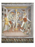The Flagellation, Scene from Christ's Passion, Fresco, 1492 Giclee Print by Giovanni Canavesio