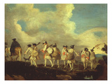 Fantassins En Marche (Foot Soldiers on a March) Lámina giclée por Francois Louis Joseph Watteau