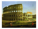 Colosseum, from the Colosseum and the Roman Forum (Inv 884), Detail Giclée-Druck von Gaspar van Wittel