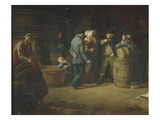 M&#226;connais Proprietor Visiting His Warehouse, 1822 Giclee Print by Pierre Victor Olagnon