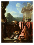 Still Life with Game, Fruit and Viola Da Gamba Giclee Print by François Desportes